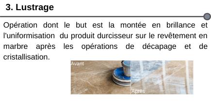 Décapage cristallisation lustrage sol marbre société de nettoyage neosit paris IDF